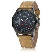 TRUE CHOICE NEW i DIVA'S Curren Mitter Brown Leather Strap Black Analog Dial Denim Watch Meter Design By 7Sstar