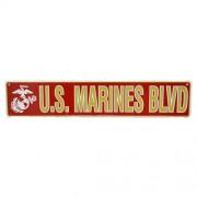 San Diego Gift U.S. Marines Blvd Metal Street Signs【ゴルフ その他のアクセサリー>ホーム/オフィス】