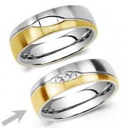 Silvego Ocelový snubní prsten pro ženy LE BLANC - RRC2051-Z
