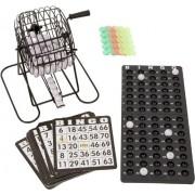 "Blue Ridge Novelty Bingo Set - 7"" Cage with Bingo Balls, Ball Rack, 18 Cards and Chips"