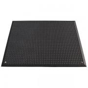 Certeo Arbeitsplatzmatte, schwarz - aus Polyurethan - LxB 950 x 650 mm