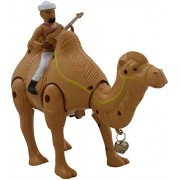 Walking Musical Camel with Guitar man on his top