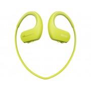 Sony NW-WS413G Sport Oordopjes In Ear MP3-speler, Oorbeugel, Waterbestendig Limoen-groen