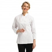 Chef Works Marbella Womens Executive Chefs Jacket White XS Size: XS