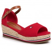 Еспадрили TOMMY HILFIGER - Rope Wedge Sandal T3A2-30658-0048 Red 300