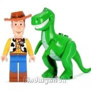 Lego Toy Story Woody Rex Dinosaur T Rex Minifigures New