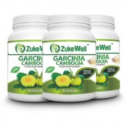 Zukewell Garcinia Cambogia Extract 500 mg (60 HCA)Fat Burner Capsule-30 Pure Veg Capsules Pack of 3