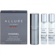 Chanel Allure Homme Sport Eau Extreme Eau de Toilette para homens 3 x 20 ml (1x vap.recarregável + 2 x recarga)