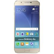 "Telefon Mobil Samsung Galaxy A8, Procesor Quad-Core 1.5GHz / 1.1GHz, Super Amoled Capacitive touchscreen 5.7"", 2GB RAM, 16GB Flash, 16MP, 4G, Wi-Fi, Dual Sim, Android (Auriu) + Cartela SIM Orange PrePay, 6 euro credit, 4 GB internet 4G, 2,000 minute natio"