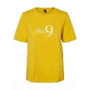 VERO MODA Statement T-shirt Damen Gelb