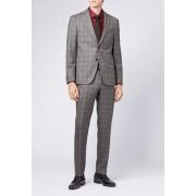 BOSS Novan Grey Plaid Two Button Notch Lapel Wool Suit OPEN GREY
