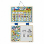 Calendar din lemn magnetic Melissa and Doug
