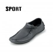 Hombres De La Manera Del Cuero Genuino De Los Holgazanes De Conducción Zapatos Nuevos Zapatos Ocasionales Del Cuero Cómodo Y Transpirable Para Los Hombres-Brown