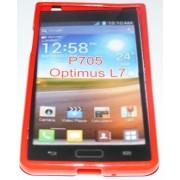 Силиконов гръб ТПУ за LG Optimus L7 P700 Червен