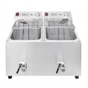 Buffalo dubbele friteuse 2x8L 6000W met timer