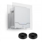 Klarstein Karree, абсорбатор, комплект за режим за рециркулация, 60 cm, 640 m³/h, LED, неръждаема стомана, бял (Set_Karree+Filter)