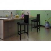 vidaXL Barové židle 4 ks umělá kůže, černá