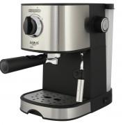 Espressor Samus Cremoso, 15 bari, 1.2 L, Filtru inox, Dispozitiv spumare, Negru/Inox