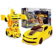 Rechargeable Remote Control Transformer Converting car to Robot Action Figure with 360 Rotation Deformation Autobots To