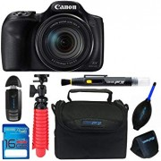 Canon PowerShot SX540 HS with Built-in Wi-Fi & 50x Optical Zoom + Pixi Basic Accessory Bundle