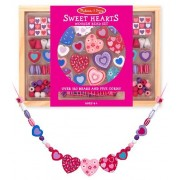 Wooden Sweet Hearts Bead Accessory Creation Set + FREE Melissa & Doug Scratch Art Mini-Pad Bundle [4