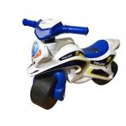 Motocicleta de impins Police Music 0139/51 Alb Albastru MyKids