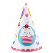 Coifuri petrecere cupcake, amscan 997218, set 6 coifuri