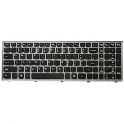 Cool-See Replacement Keyboard Silver Grey Frame For Lenovo IdeaPad Flex15 G500S G505S G510S S500 S510 S510P Z510 Z510-IFI Series P/N 25213681 25213591 T6E1-US MP-12U73US-686 PK130T32A00