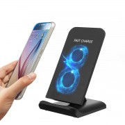 Galaxy M520 10W 2 Coils Qi Wireless Quick Charger Stand Holder for Samsung S8 Galaxy Note 8 iPhone 8 Plus X