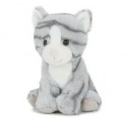 Semo Pluche speelgoed poes/kat knuffeldier grijs 18 cm