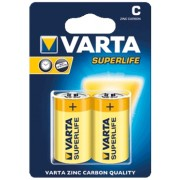 ЦИНКОВА БАТЕРИЯ R14 C VARTA SUPERLIFE