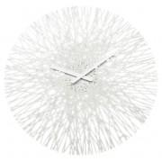 KOZIOL Nástěnné hodiny SILK,kulaté - barva bílá, KOZIOL