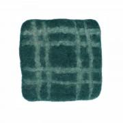 Dille&Kamille Dessous de verre, feutrine, vert foncé à carreaux, 10 x 10 cm