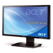"Acer Monitor 24"" Acer B243hlloymdr Led Full Hd Vga Altoparlanti Incorporati Refurbished Grigio"