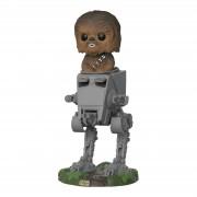 Pop! Vinyl Figura Funko Pop! Deluxe Chewbacca con AT-ST - Star Wars