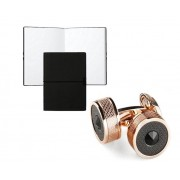 Set Butoni Classic Filigree Black Glass Rose Gold by Montegrappa si Note pad Black Hugo Boss