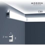 Kroonlijst Orac Decor C381 MODERN L3 Indirecte verlichting Sierlijst modern design wit 2m