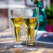 Чаши за Бира – Обърната Бутилка (Комплект 2бр.)
