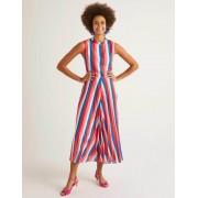 Boden Kräftiges Blau/Helles Pink, Gestreift Jocelyn Midikleid mit Plisseefalten Damen Boden, 42, Pink