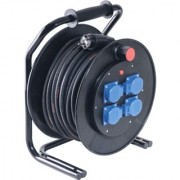40 meter kabelhaspel 3x2,5mm² met 4 contactdozen 230V Keraf