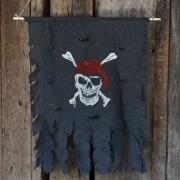 Piratflagga för Halloween - Jolly Roger Skull 76x90cm