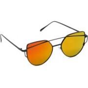 Octa Over-sized Sunglasses(Orange)