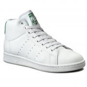 Pantofi adidas - Stan Smith Mid BB0069 Ftwwht/Ftwwht/Green