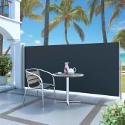 vidaXL Zaťahovacia bočná markíza čierna 140 x 300 cm