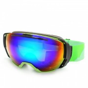 Panlees JL011 TPU marco suave gafas de esqui de lente doble - verde brillante