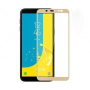 Folie Sticla Tempered Glass Samsung Galaxy J6 2018 j600 Full Glue 2D Gold Fullcover