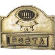 Buca per lettere con citofono ottone lucido Alubox mod. A5-OL