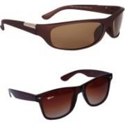 Rich Club Wayfarer, Sports Sunglasses(Brown, Brown)