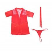 Solid Color Sexy Bathrobe Backless Lace Splice Kimono Sauna Robe Home Bathrobe Red
