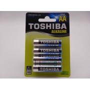 Toshiba LR6 AA 1.5V baterii alcaline blister 4